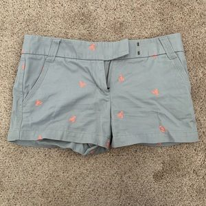 J Crew Gray Lobster Shorts size 8